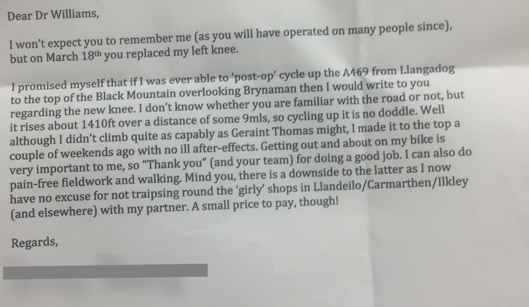 A Warm Testimonial From A Patient